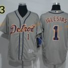 2016 Flexbase 1 Jose Iglesias Jersey Stitched Detroit Tigers Baseball Jerseys Cool Base Grey