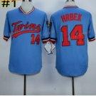 14 Kent Hrbek Jersey Minnesota Twins Flexbase Baseball Jerseys 1987 Cooperstown Blue