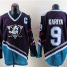 mighty ducks #9 paul kariya 2015 Ice Winter Jersey Black Hockey Jerseys Authentic Stitched