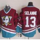 mighty ducks #13 teemu selanne 2015 Ice Winter Jersey REd Hockey Jerseys Authentic Stitched