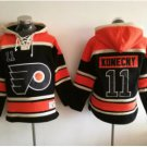 Philadelphia Flyers 11 Travis Konecny Black 2017 Stadium Series Hockey Hooded Sweatshirt Jerseys
