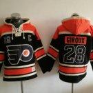 Philadelphia Flyers 28 Claude Giroux Black 2017 Stadium Series Hockey Hooded Sweatshirt Jerseys