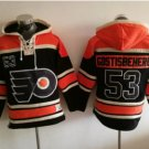Philadelphia Flyers 53 Shayne Gostisbehere Black 2017 Stadium Series Hockey Hooded Sweatshirt Jersey