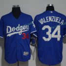 2017  Stitched Los Angeles Dodgers 34 Fernando Valenzuela Blue Baseball Jerseys Road Jersey