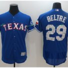 2017 Flexbase Stitched Texas Rangers 29 Adrian Beltre Blue Road Flex base Jersey Style 1
