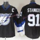 2016 Men's Tampa Bay Lightning Hockey Jerseys #91 Steven Stamkos Jersey Black Stitched Jerseys