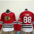 Women's Chicago Blackhawks Hockey Jerseys #88 Patrick Kane Ladies Red Anthentic Stitched Jerseys