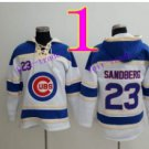 Chicago Cubs #23 Ryne Sandberg Baseball Hooded Stitched Old Time Hoodies Sweatshirt Jerseys