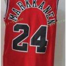 2017 2018 New 24 Lauri Markkanen Jersey Best Plain Red Jerseys stitched
