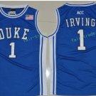 Duke Blue Devils College 1 Kyrie Irving Basketball Jerseys Blue Alternate Embroidery Style 1