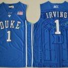 Duke Blue Devils College 1 Kyrie Irving Basketball Jerseys Blue Alternate Embroidery Style 2