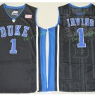 Duke Blue Devils College 1 Kyrie Irving Basketball Jerseys Black Alternate Embroidery
