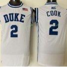 Duke Blue Devils Basketball Jerseys College Men 2 Quinn Cook WHite Stitched