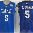 Duke Blue Devils Basketball Jerseys College Men 5 Tyus Jones Blue Black Stitched
