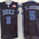Duke Blue Devils Basketball Jerseys College Men 5 Tyus Jones Black Stitched