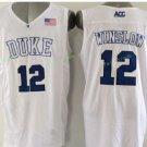 Duke Blue Devils Basketball Jerseys College Men 12 Justise Winslow White Stitched