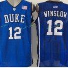 Duke Blue Devils Basketball Jerseys College Men 12 Justise Winslow Blue Stitched