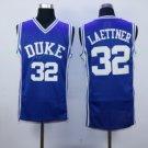 #32 Christian Laettner Duke Blue Devils College Jersey Blue Men's  Basketball Jerseys