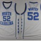 2017 North Carolina Tar Heels College 52 James Worthy White Jersey