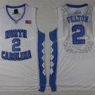 2017 North Carolina Tar Heels College  2 Felton White Jersey