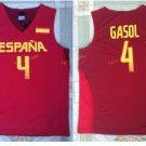 2017 RIO Spain Team Jersey Shirts Uniform 4 Pau Gasol Fashion Home Color Red