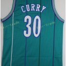 Basketball Jerseys 30 Dell Curry Throwback Jerseys Blue Shirt Unifor