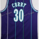 Basketball Jerseys 30 Dell Curry Throwback Jerseys Purple Shirt Unifor