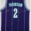 Basketball Jerseys 2 Larry Johnson Throwback Jerseys Purple Shirt Unifor
