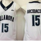 2017 Villanova Wildcats College Basketball Jerseys 15 Ryan Arcidiacono White University Jersey