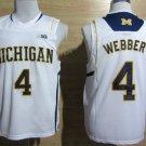 2017 College Michigan Wolverines Jerseys Big 4 Chirs Webber White Shirt Uniform