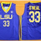 LSU Tigers College Jerseys 2017 Fashion 33 Shaquille ONeal Jersey Shirt Uniforms Blue