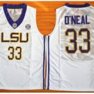 LSU Tigers College Jerseys 2017 Fashion 33 Shaquille ONeal Jersey Shirt Uniforms White