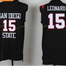 Jersey San Diego State 15 Kawhi Leonard College Shirts Uniforms Fashion Christmas Home Black
