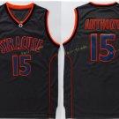 15 Camerlo Anthony Jersey Shirt 2017 Syracuse Orange Uniforms Fashion Rev Black