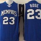 Best Quality 23 Derrick Rose College Jerseys Tigers Shirt Uniform Team Color Blue Fashion