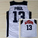 Dream Team 2017 USA Jersey 13 Chris Paul White Basketball Jerseys Best