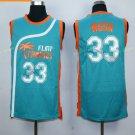 Best Quality 33 Jackie Moon Blue Jersey Men Shirt Flint Tropics Semi Pro Movie