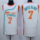 Best Quality 7 Coffee Black White Jersey Men Shirt Flint Tropics Semi Pro Movie