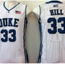 Throwback 33 Grant Hill Blue Devils College Basketball Jerseys Uniform Sport Stitched WHite Style 1