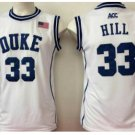 Throwback 33 Grant Hill Blue Devils College Basketball Jerseys Uniform Sport Stitched WHite Style 2