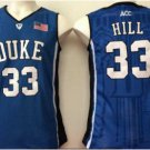 Throwback 33 Grant Hill Blue Devils College Basketball Jerseys Uniform Sport Stitched Blue Style 1