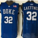Throwback 32 Christian Laettner Blue Devils College Basketball Jerseys Uniform Sport Stitched Blue