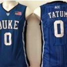Men 0 Jayson Tatum Duke Blue Devils Jerseys College Sport Basketball Shirts Blue Style 1