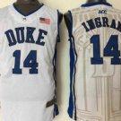 Men 14 Brandon Ingram Duke Blue Devils Jerseys College Sport Basketball Shirts All Stitched White