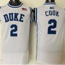 Men 14 Brandon Ingram Duke Blue Devils Jerseys College Sport Basketball Shirts White Style 1