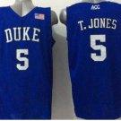 5 Tyus Jones Duke Blue Devils College Basketball Jerseys Blue Embroidery Logos Style 3