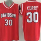 #30 Stephen Curry Davidson Wildcats College Jersey Red Stitched University Basketball Shirts