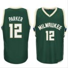 men new  #12 Jabari Parker Green jersey basketball jerseys High quality embroidery
