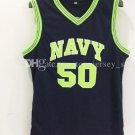 #50 David Robinson jersey College basketball jerseys 100% Stitched Navy
