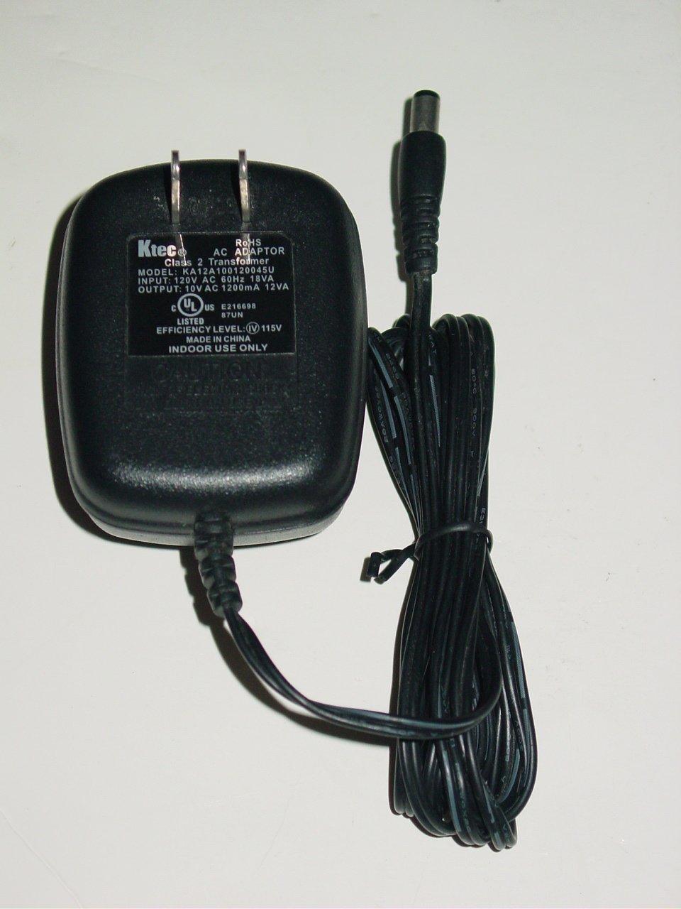 Ktec KA12A100120045U  AC Adapter 10VAC 1200mA